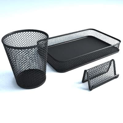 Mesh Desk Accessories Office Supplies Mesh 3d Model