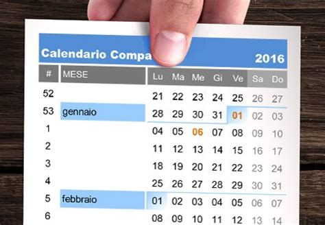 Calendario 2016 Con Settimane Calendario 2016 Compatto In Italiano Da Stare Excel E Pdf