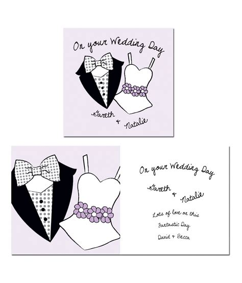 personalised wedding cards next day delivery personalised on your wedding day card just for gifts
