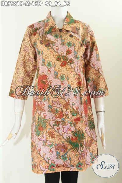 Dress Bagus dress batik bagus motif bunga pakaian batik wanita