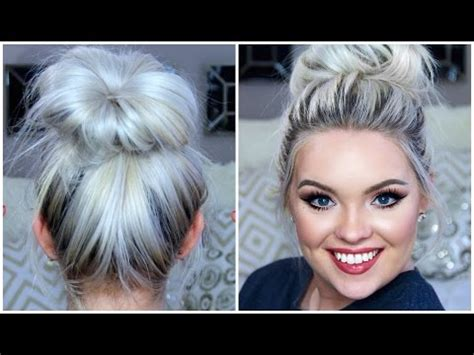 replacements for a donut bun high messy bun tutorial for sew ins how to save money