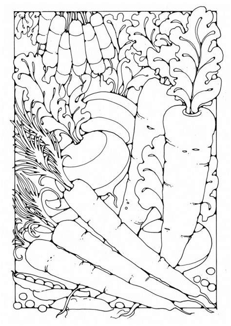 coloring pages for adults vegetables warzywa kolorowanki do wydrukowania fd