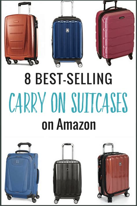 top seller on amazon 8 of the best carry on suitcases amazon best sellers
