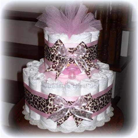 Leopard And Pink Baby Shower Decorations by Baby Shower Leopard Pink Brown Cake Baby Shower Centerpiece Animal Print