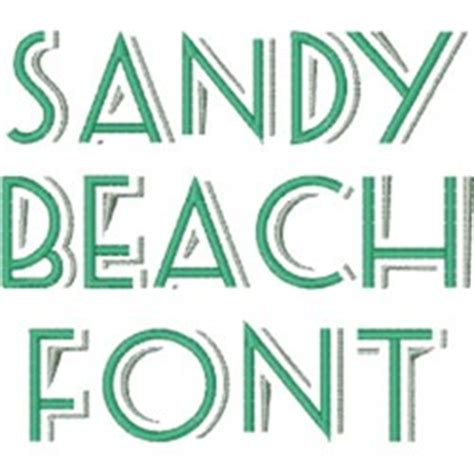 printable beach fonts sandy beach font embroidery font annthegran