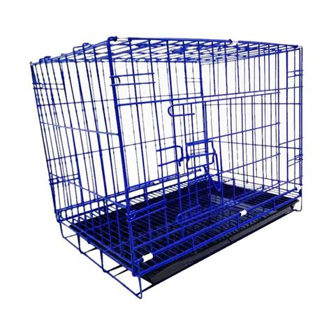 Kandang Kucing Lipat Dengan Tatakan 60x40x50 jual wyd k05 besi lipat tebal p60 kandang kucing dan kandang anjing biru harga