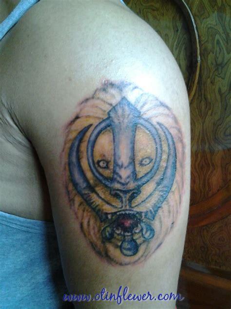 lion tattoos for punjabi amazing sikhism khanda with roaring lion punjabi tattoo on