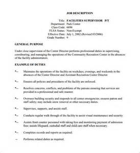 How To Write A Description Template by 10 Supervisor Description Templates Free Sle