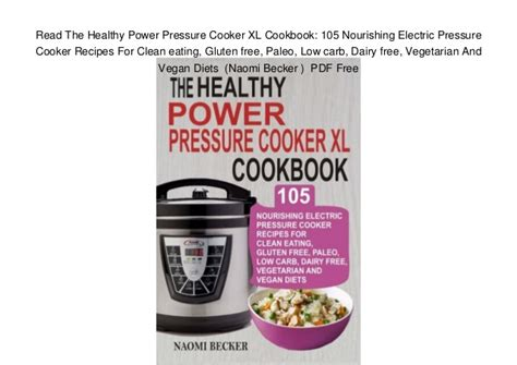 read the healthy power pressure cooker xl cookbook 105