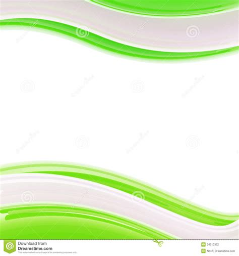 green and white lights wavy glossy bright design template background stock