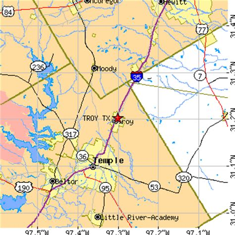 eddy texas map troy texas tx population data races housing economy