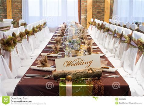 Special Wedding Table Decorations Stock Images   Image