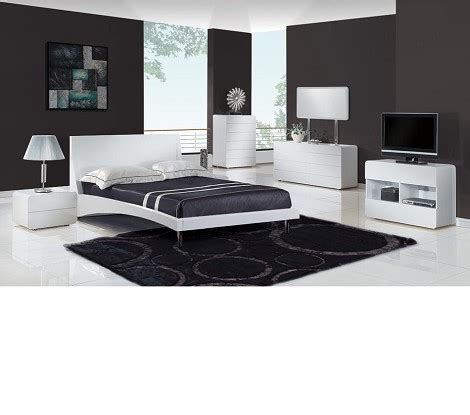 Bedroom Furniture Bristol Dreamfurniture Bristol Contemporary Glossy Bedroom Set