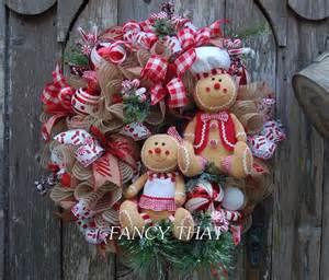 peppermint gingerbread theme wreath christmas wreath