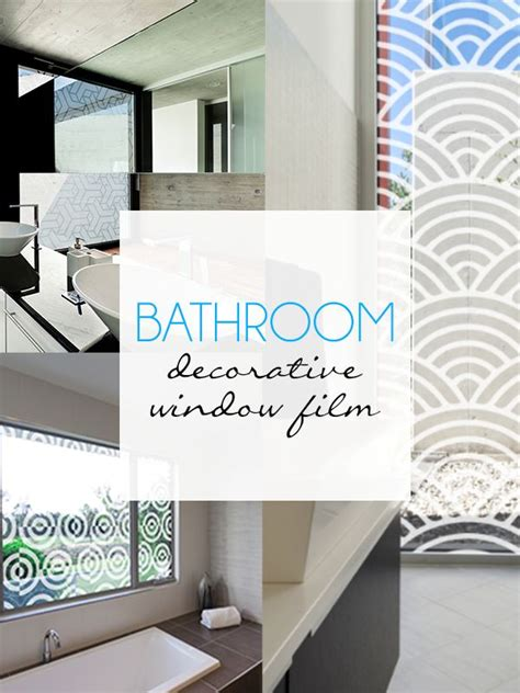 bathroom film bathroom decorative window film home decor pinterest