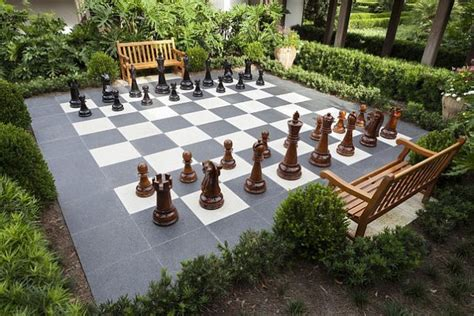 backyard chess outdoor chess 25 ideas and inspirations