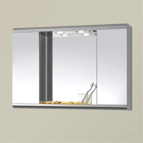wall mounted bathroom mirror storage cabinet cupboard