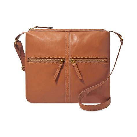 Fossil Leather Brown fossil erin leather crossbody in brown lyst