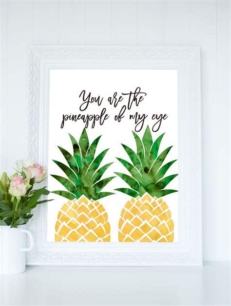 printable pineapple wall art pineapple printable art watercolor pineapple print you
