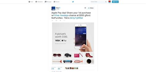 Apple Pay Visa Gift Card - visa apple pay sweepstakes share your first purchase to win 500