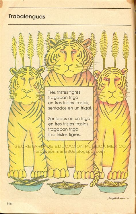 libro tres tristes tigres trabalenguas espa 241 ol tongue twisters spanish and spanish class