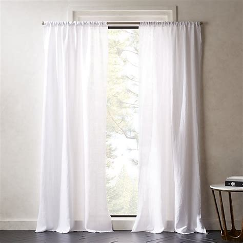 white linen curtains cb2