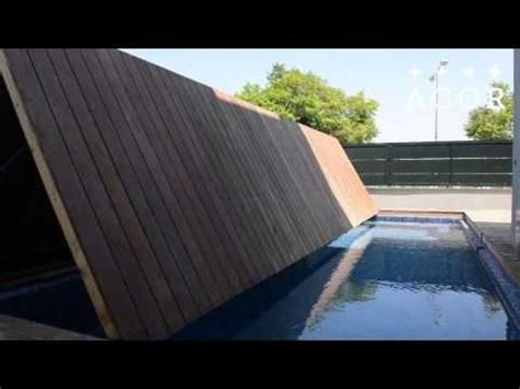 Pool Cover Floor by Folding Floor A Folding Swimming Pool Cover By Agor