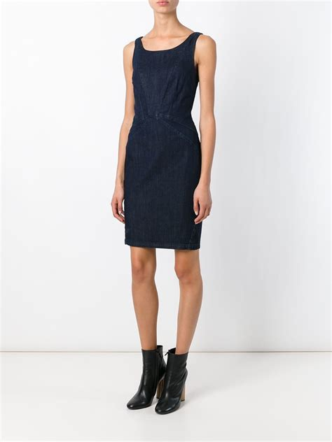 Bodycon Dress Aira Denim Inner lyst armani denim bodycon dress in blue