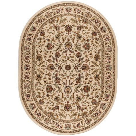 oval rugs 5x8 tayse rugs laguna ivory 5 ft 3 in x 7 ft 3 in oval indoor area rug 5072 ivory 5x8 oval the