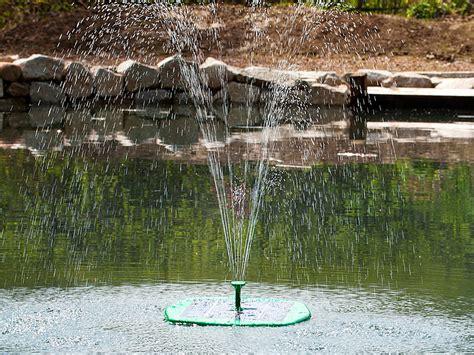 springbrunnen teich royal gardineer solarbrunnen schwimmender teich
