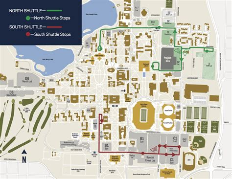 notre dame cus map student faculty staff transportation transportation services of notre dame