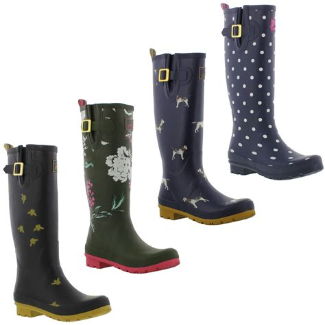 joules boots joules welly print womens wellington boots wellies