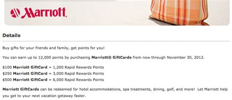 Marriot Gift Cards - up to 12 000 southwest points with marriott gift card purchasesthe points guy