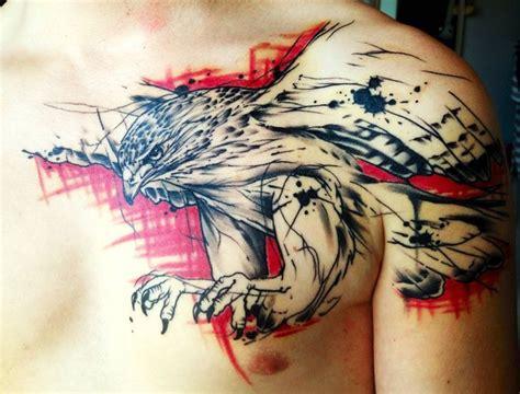 chest tattoo trash polka trash polka blue google search tattoos pinterest