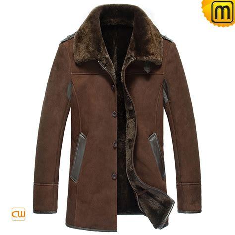 sheepskin leather fur coat  men cw