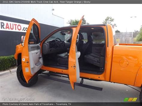 2011 gmc 2500hd work truck crew cab 4x4 in fleet tangier orange photo no 83466850