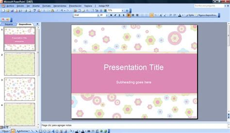 free templates powerpoint 2007 free flower vector powerpoint template