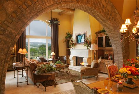 Mediterranean Living Room Interior Design Splendid Arched Window Treatments Decorating Ideas