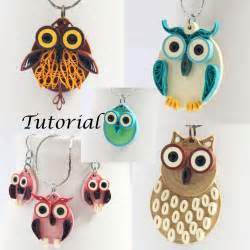 owl earrings diy tutorial for paper quilled jewelry pdf owl