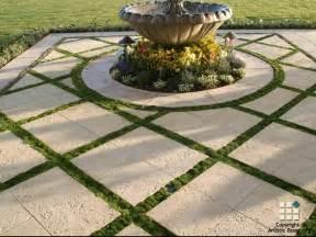 Patio Pavers Orlando Corallock Ivory Grass Patio