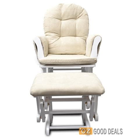 glider rocking chair and ottoman wooden baby breastfeeding relaxation rocking chair with