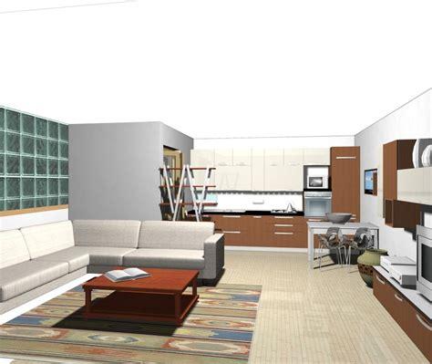 zona living e cucina cucina piccola pareti storte inclinate cucina nella