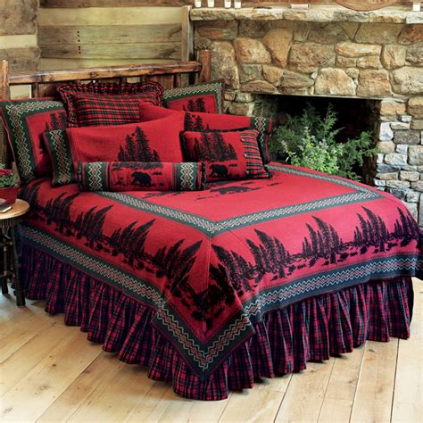 Luxury Cabin Bedding by Luxury Cabin Bedding From Silverado And Wooded River
