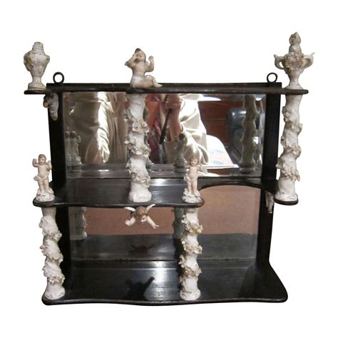 etagere porzellan antik antique etagere shelf unit porcelain flowers and cherubs