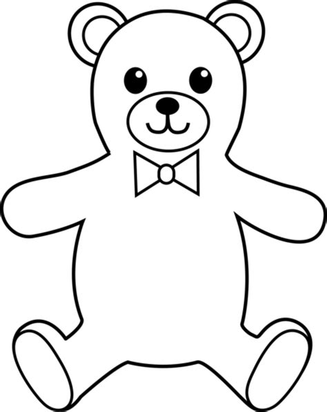 Teddy Outline Images by Teddy Colorable Line Free Clip
