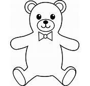 Teddy Bear Colorable Line Art  Free Clip