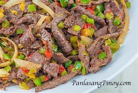 printable pinoy recipes quick and easy beef and pepper stir fry panlasang pinoy