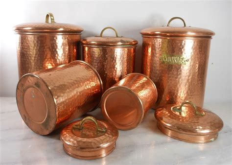 copper canister set kitchen ware hammered cookware food 28 copper hammered canister set of set of 4