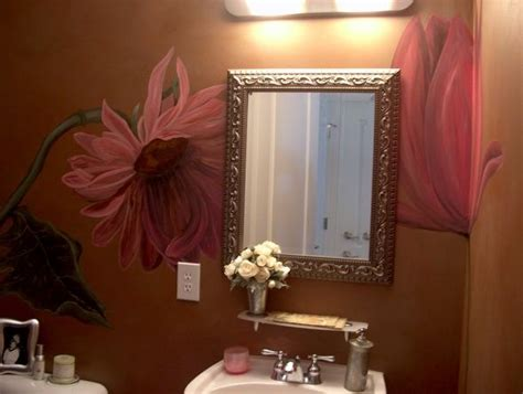 hand painted wall design paint pinterest powder 13 best images about powder rooms on pinterest the wall