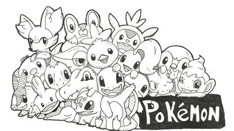 pokemon coloring pages starter pokemon pokemon starters by deedeelili on deviantart